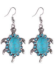 hesapli -1 çift Kadın's Eski Tip Tarz Damla Küpeler - Kaplumbağa Tatlı sevimli Stil Mücevher Mavi Uyumluluk Parti Cadde