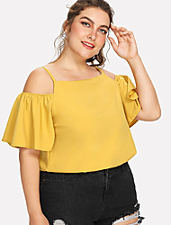 billige -T-skjorte Dame - Ensfarget Gatemote