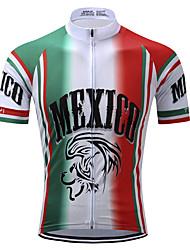 Недорогие -TELEYI Муж. С короткими рукавами Велокофты Red and White Большие размеры Велоспорт Джерси Верхняя часть Влагоотводящие Быстровысыхающий Виды спорта Полиэстер Горные велосипеды Шоссейные велосипеды
