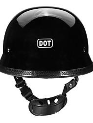 Недорогие -Точка немецкий стиль мотоцикл половина лица шлем мотокросс велосипед матовый черный м / л / XL