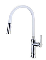 cheap -Kitchen faucet - Single Handle One Hole Stainless Steel Standard Spout / Tall / ­High Arc Contemporary Kitchen Taps