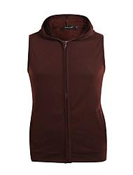 hesapli -erkek kolsuz hoodie - renk bloğu kapüşonlu açık mavi m