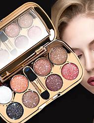 Недорогие -8 цветов Тени Глаза / Тени для век Всё в одном / Легко для того чтобы снести / Женский Компактность Защитный Многофункциональный Повседневный макияж / Макияж на Хэллоуин / Макияж для вечеринки