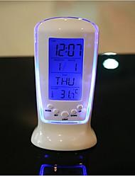 Недорогие -цифровой светодиодный настольный будильник термометр таймер календарь настольный декор люминесценция музыкальные часы