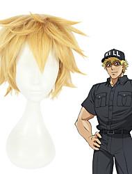 baratos -Perucas de Cosplay Fantasias Fantasias Loira Anime Perucas de Cosplay 12 polegada Fibra Resistente ao Calor Todos Perucas para o Dia das Bruxas