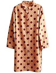 olcso -női ázsiai méretű vékony ing - geometriai ing gallér