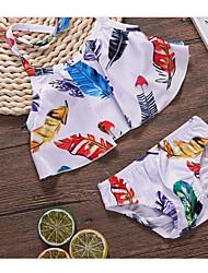 levne -Dítě Dívčí Základní Denní Jednobarevné Bez rukávů / Dlouhý rukáv Standardní Standardní Bavlna / Polyester Sady oblečení Bílá
