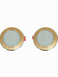 billige -2pcs 5 W 360 lm 10 LED Perler Let Instalation Forsænket LED nedlys Varm hvid Kold hvid 220-240 V Hjem / kontor Stue / spisestue