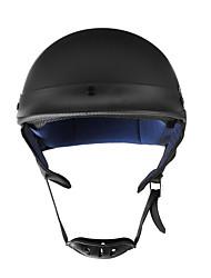 Недорогие -мотоцикл немецкий стиль половина лица шлем скутер велосипед матовый черный м / л / х точка