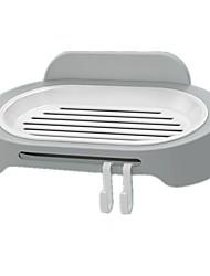 Недорогие -Мыльница / Стикер для ванной / Крючки Водонепроницаемый / Самоклеющиеся / Аксессуар для хранения Бутик / Классический / Мода ABS 1 комплект