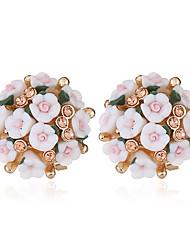 economico -Per donna Tropicale Orecchini a bottone - Diamanti d'imitazione Romantico Gioielli Rosa / Rosa Chiaro / Verde Chiaro Per Matrimonio Appuntamento Per eventi / 1 paio