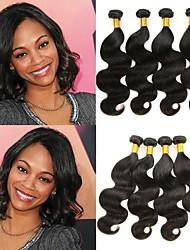 tanie -6 pakietów Body wave Włosy naturalne Nieprzetworzone włosy naturalne Nakrycie głowy Fale w naturalnym kolorze Pielęgnacja włosów 8-28 in Kolor naturalny Ludzkie włosy wyplata Miękka Łatwe ubieranie