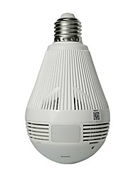 Недорогие -hiseeu bulb light беспроводная ip-камера wi-fi fisheye 960p 360 градусов vr cctv камера 1.3mp домашняя безопасность wifi камера панорамный