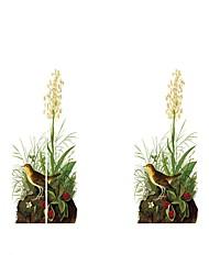 Недорогие -Дверные наклейки - 3D наклейки Животные / Цветочные мотивы / ботанический Гостиная / Спальня