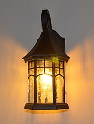 Недорогие -Творчество Простой / Ретро Настенные светильники На открытом воздухе / Сад Металл настенный светильник 220-240Вольт 40 W