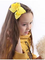 Недорогие -Полиэстер / хлопок Зажим для волос с Бант / Однотонные 1 шт. Свадьба / На каждый день Заставка
