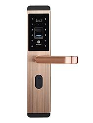 Недорогие -беспроводной интеллектуальный замок смарт-дверной замок с отпечатками пальцев и механическим ключом из нержавеющей стали для умной домашней системы безопасности