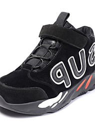 baratos -Para Meninos Sapatos Pele Outono & inverno Conforto Tênis Caminhada Velcro para Infantil / Adolescente Preto