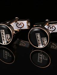 Недорогие -Геометрической формы Розовое золото Запонки Циркон / Медь Винтаж / Классический Муж. Бижутерия Назначение Для вечеринок / Подарок