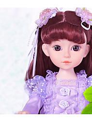 baratos -Boneca de moda Bebês Meninas 16 polegada Smart realista Crianças / Adolescente de Criança Unisexo Brinquedos Dom