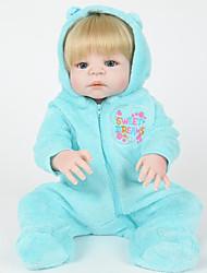 baratos -Bonecas Reborn Bebês Meninos 22 polegada Silicone Vinil - realista Confeccionada à Mão Fofo Segura Para Crianças Crianças / Adolescente Non Toxic de Criança Unisexo Brinquedos Dom