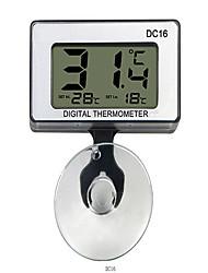 Недорогие -DC-16 цифровой мини водонепроницаемый жк-дисплей аквариумный термометр + присоска