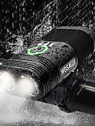 Недорогие -Двойной LED Велосипедные фары Передняя фара для велосипеда Фары для велосипеда Фонарь Велоспорт Водонепроницаемый Портативные USB Перезаряжаемая батарея 2400 lm Белый Велосипедный спорт - WOSAWE