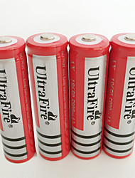Недорогие -UltraFire BRC Литий-ионная 18650 батарея 4200 mAh 4шт Перезаряжаемый для Фонарь Велосипедный свет Налобные фонари Охота Восхождение Походы / туризм / спелеология