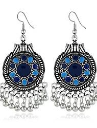 Χαμηλού Κόστους -Γυναικεία Αχλάδι Κρεμαστά Σκουλαρίκια - Etnic Κοσμήματα Μαύρο / Ουράνιο Τόξο / Μπλε Για Καθημερινά Ημερομηνία Φεστιβάλ / 1 Pair