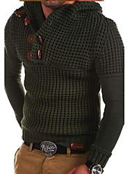 ราคาถูก -สำหรับผู้ชาย ทุกวัน สีพื้น แขนยาว ปกติ ผ้าคลุมหลัง เทาเข้ม / อาร์มี่ กรีน / เทาอ่อน XL / XXL / XXXL