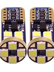 baratos -2pcs T10 Motocicleta / Carro Lâmpadas 1 W SMD 3528 200 lm 12 LED Lâmpada de Seta / Iluminação interior / Luzes laterais Para Universal Todos os Anos