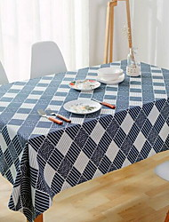 cheap -Contemporary 100g / m2 Polyester Knit Stretch Square Table Cloth Geometric Table Decorations