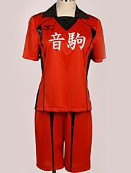 baratos -Inspirado por Haikyuu Fantasias Anime Fantasias de Cosplay Uniformes Escolares Cidade / Simples Blusa / Calções / Camiseta Para Homens / Mulheres
