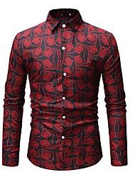 저렴한 -남성용 기하학 프린트 - 셔츠