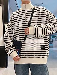 hesapli -Erkekler uzun kollu kazak - renk bloğu standı beyaz m
