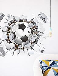 Недорогие -Декоративные наклейки на стены - 3D наклейки Футбол Гостиная / Спальня / Кухня