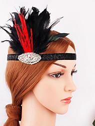 preiswerte -Great Gatsby 20er Gatsby Kostüm Damen Flapper Haarband Kopfbedeckung Schwarz Vintage Cosplay Party Abiball Festival