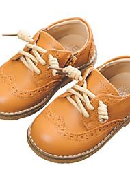 billiga -Flickor Skor Läder Vinter Komfort Oxfordskor för Barn Svart / Kamel