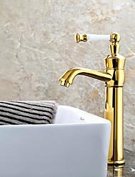 preiswerte -Waschbecken Wasserhahn - Verbreitete Galvanisierung Andere Einhand Ein LochBath Taps
