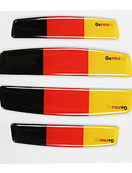 Недорогие -4шт двери автомобиля края флаг эмблема анти-охранник наклейка австралия / германия / сша / великобритания