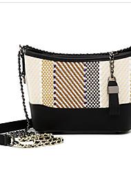 Χαμηλού Κόστους -Γυναικεία Τσάντες PU Τσάντα ώμου Φερμουάρ Φλοράλ Πορτοκαλί / Μπεζ