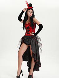 Χαμηλού Κόστους -Ο μεγαλύτερος αθλητής Φορέματα Καπέλα Χορός μεταμφιεσμένων Γυναικεία Στολές Ηρώων Ταινιών Βυσσινί / Κόκκινο / Ροζ Φόρεμα Καπέλο Halloween Απόκριες Μασκάρεμα Τούλι Πολυεστέρας