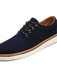 cheap -Men's Comfort Shoes Canvas Spring Casual Sneakers Breathable Black / Blue