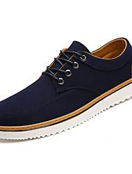 abordables -Hombre Zapatos Confort Tela Primavera Casual Zapatillas de deporte Transpirable Negro / Azul