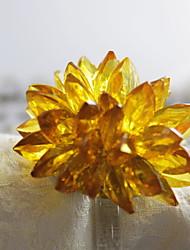 billige -Klassisk Plast acryl Rund Servietring Ensfarvet Blomst Borddekorationer 12 pcs