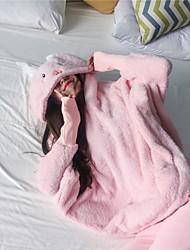 Недорогие -Взрослые Толстовка Пижамы кигуруми Овечья шерсть Цельные пижамы Коралловый Розовый Косплей Для Муж. и жен. Нижнее и ночное белье животных Мультфильм Фестиваль / праздник костюмы