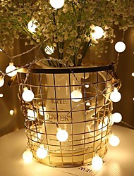 Недорогие -6м Гирлянды 40 светодиоды Тёплый белый / Разные цвета Праздник / Новогоднее украшение для свадьбы / Маленький шарик Работает от USB 1 комплект