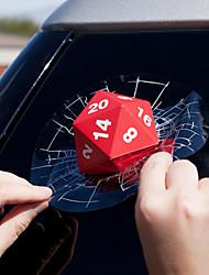 Недорогие -3d красные наклейки для игры в кости автомобиля стеклоочиститель заднего стекла светоотражающие наклейки
