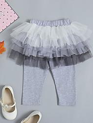 abordables -bébé Fille Basique / Chic de Rue Quotidien / Sortie Couleur Pleine Coton / Spandex Pantalons Gris