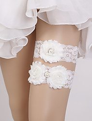 levne -Krajka Svatba / Cute Style Svatební ošacení S Perličky / Květiny Podvazky Svatební / Párty